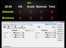 aussie rules football scores