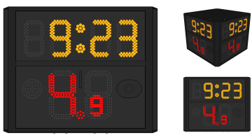 Four Side Shot Clock (FIBA 2017 Rule)