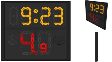 Single Side Shot Clock (FIBA 2017 Rule)